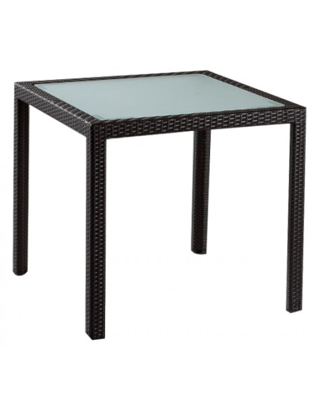Talbot Square Dining Table With Glass Inlay Kian Home